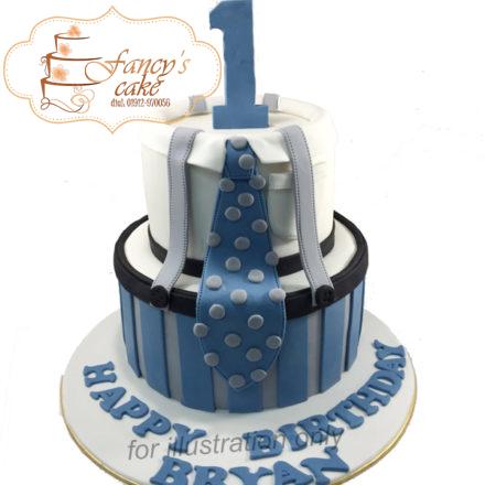 birthday tie fancys cake